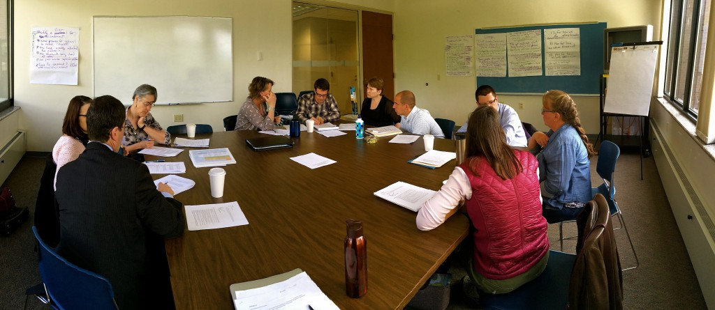 The Chittenden County team convenes to discuss plans for the new site.